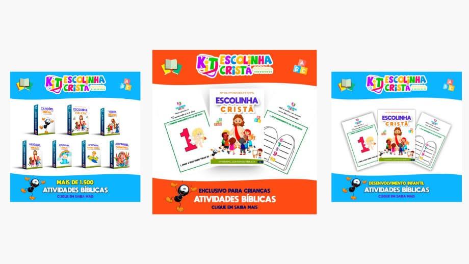Kit Escolinha Cristã o Material de alfabetização infantil
